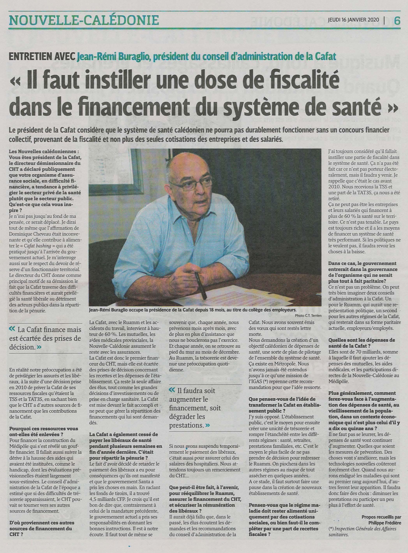 Jean-Rémi BURAGLIO Président de la CAFAT fait le point de situation du RUAMM