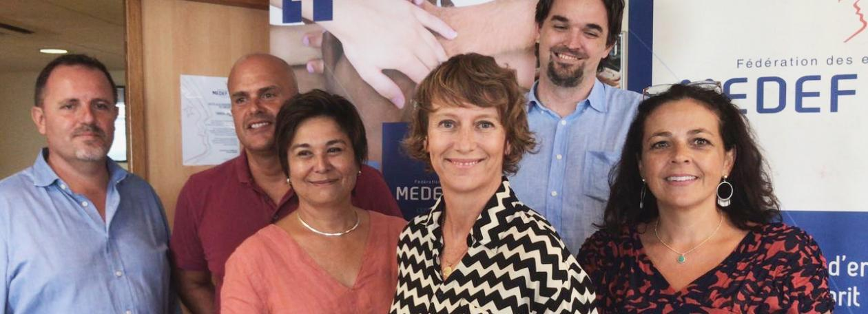 Election presidente medef nouvelle-caledonie Mimsy DALY