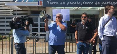 Manifestation Medef devant le gouvernement