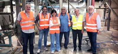 Medef Nouvelle-Calédonie en visite Industrie Groupe Saint Vincent