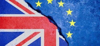 BREXIT Drapeau Royaume Unis et Europe